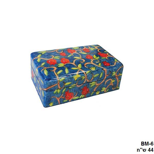 Picture of קופסת תכשיטים בינונית - פרחים - BM-6 | יאיר עמנואל