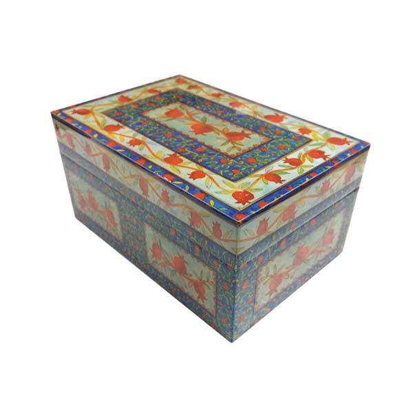 תמונה של קופסת עץ בינונית - רימונים - BX-1   יאיר עמנואל