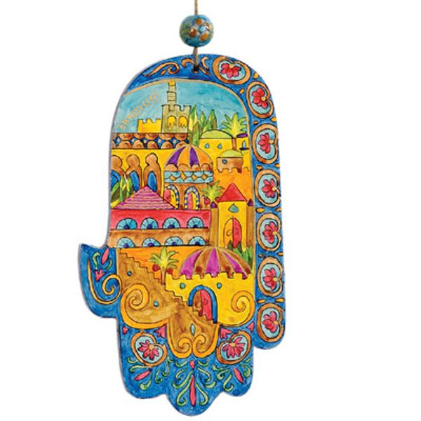 Picture of חמסה קטנה - ציור יד על עץ - ירושלים אורינטלי - HAS-12 | יאיר עמנואל