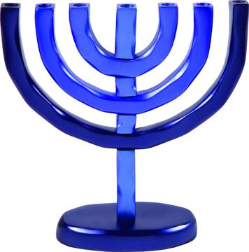 Picture of מנורה 7 קנים - כחול - HMC-2   יאיר עמנואל